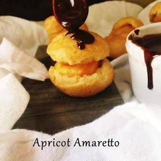 Apricot Amaretto choux (gluten free)