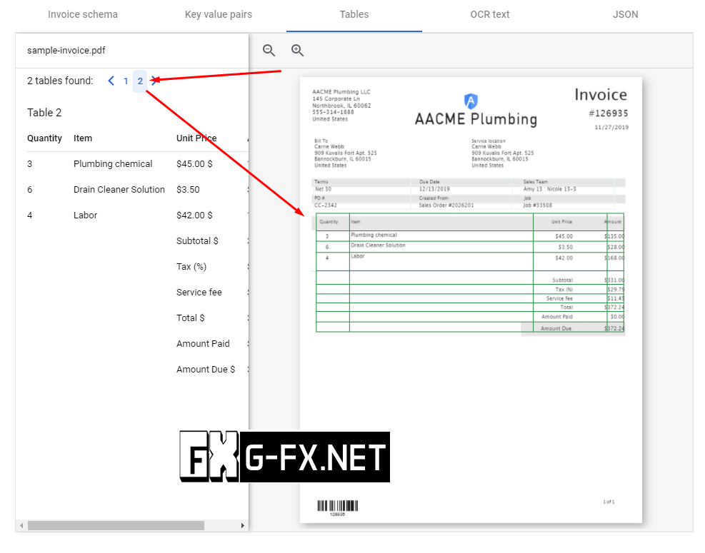 Google Document AI Example 4