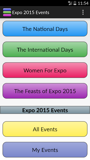 Expo 2015 Events