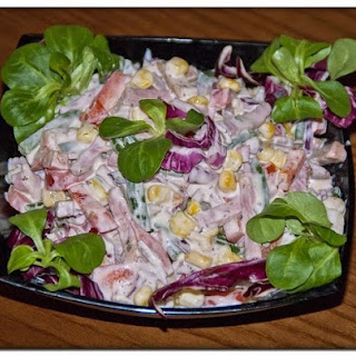 Salad With Ham And Peppers
