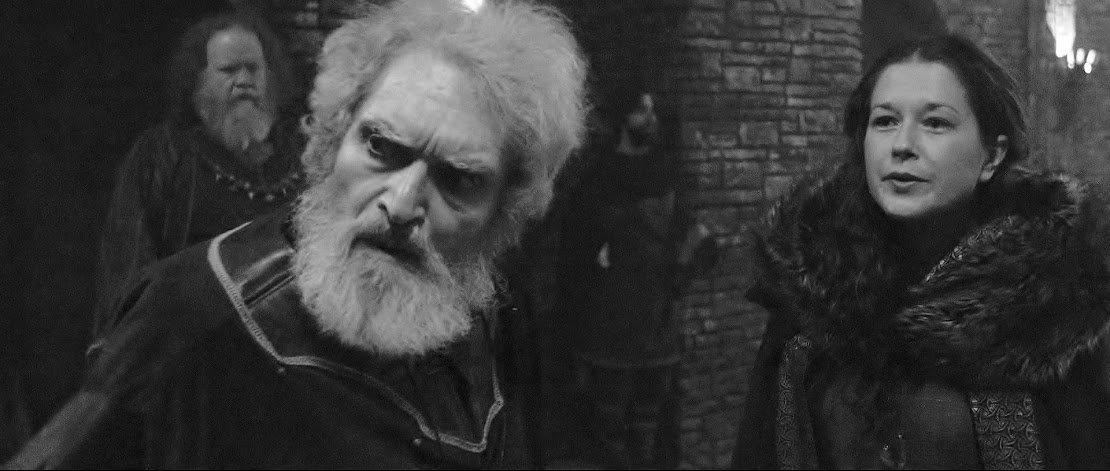 Lear curses Goneril - Jim Zidar, Alexander Barnett, Leah Filley film still