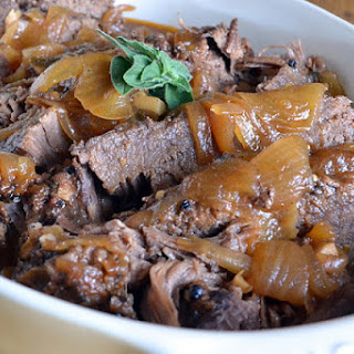 Slow-Cooked Maple Cider Brisket.