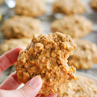 Healthy Peanut Butter Banana Cookies.