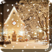2017 Christmas snow night live wallpaper