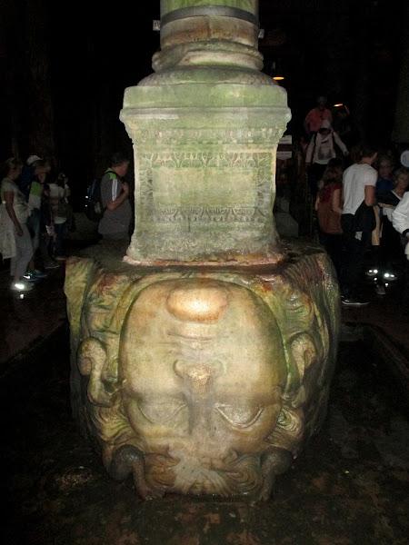 Basilica Cistern Upside Down Medusa Head
