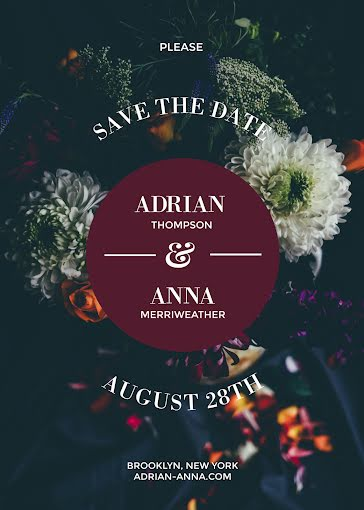 Please Save the Date - Wedding Invitation Template