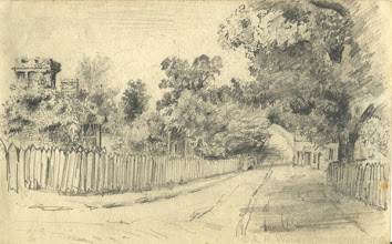 Photo: Pencil sketch of ? by A. R. Wallace in 18??. Copyright The A. R. Wallace Memorial fund.