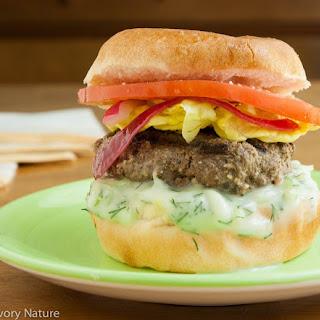 Kafta Burgers with Tzatziki Sauce