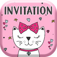 Kitty Invitation Card Maker Free 1 1 Latest Apk Download For