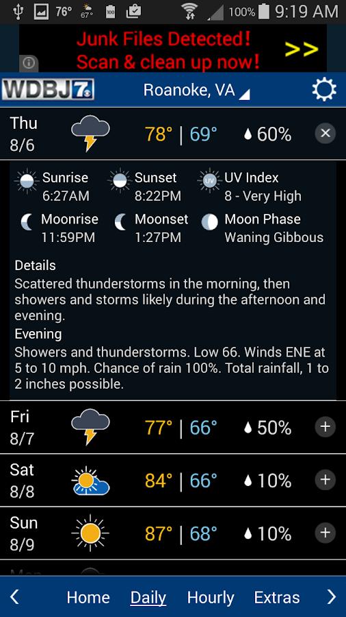 WDBJ7 Weather & Traffic- screenshot