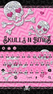 Pink Skull n' Bow Keyboard Lace Theme - náhled