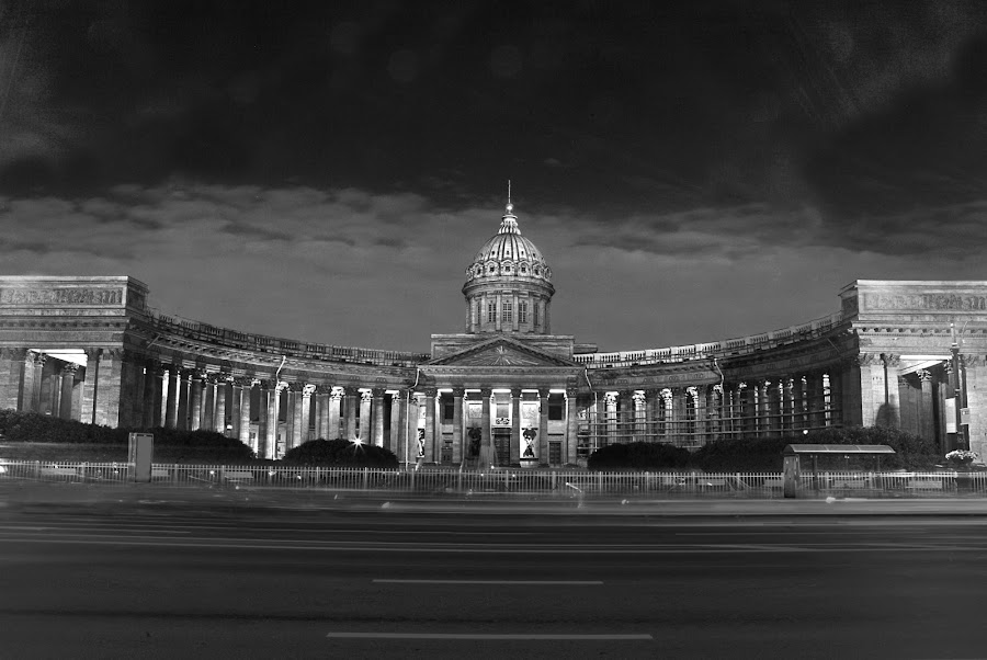 Cathedral by Jasminder Oberoi - Buildings & Architecture Statues & Monuments ( russia, monochrome, monument, cathedral, st.petersburg )