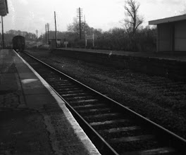 Photo: An up train departs Charlbury (1972)