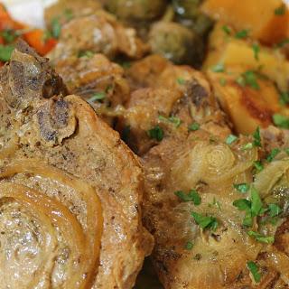 Slow Cooker Pork Chops with Seasonal Vegetables.