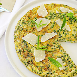 Pea, Mint and Parmesan Frittata