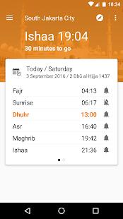 Waktu Salat, Imsakiyah, Qibla - náhled