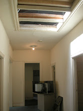 Photo: October 2003 - Month 2: Third Floor Hallway looking toward entrance to Saba Suite. Low ceilings with skylights.