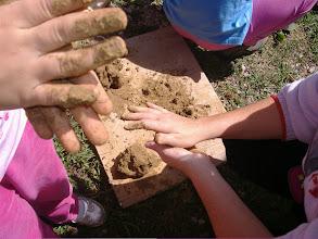 Photo: è bello impastare argilla e semi