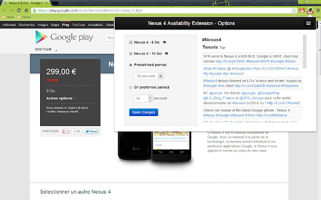 Nexus 4 Availability Extension