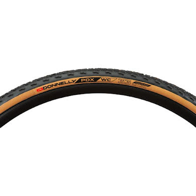 Donnelly Sports PDX WC Tire - 700 x 33, Tubeless, Folding, Black/Tan, 240tpi