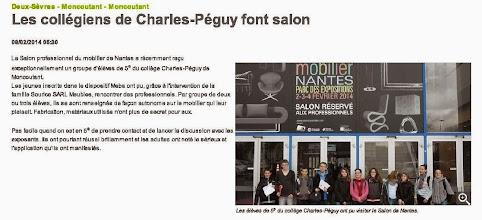 Photo: 2014-02-08 NR Les collégiens de Charles-Péguy font salon.jpg