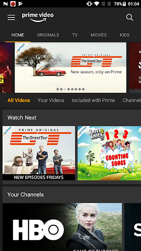 Amazon Prime Video Android App Screenshot
