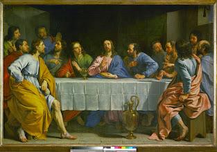 Photo: La cene - the Last Supper. Canvas, 158 x 233 cm INV. 1724
