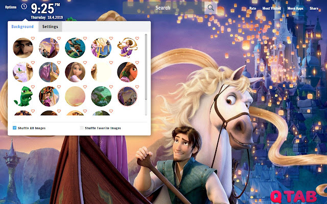 Tangled New Tab Tangled Wallpapers