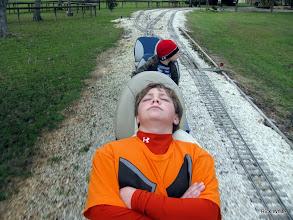 Photo: Joseph and Michael, when Logan is driving.   2009-1127 HALS Anniversary Meet