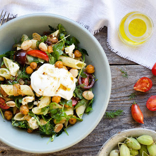 Pasta With Spiced Chickpeas, Tomatoes And Feta