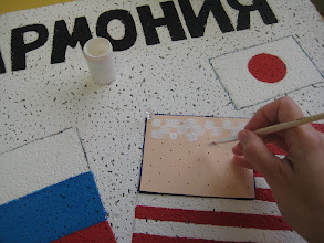 Photo: Making markers... (you really have to get creative when you have no ruler!!)