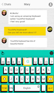 TouchPal Pop Art Aqua Theme screenshot 1