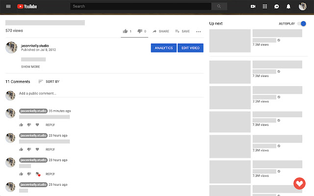Comment Manager for Youtubers