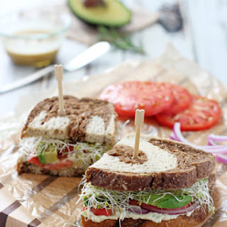 Fresh Herb White Bean and Avocado Sandwich