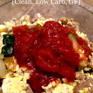 Zucchini & Beef Egg Scramble [Clean, Low Carb, GF] Recipe