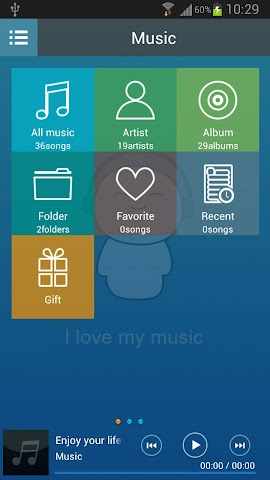 android Mp3 Music Player Screenshot 2
