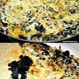 Frittata with Sun Dried Tomato, Roasted Peppers and Kale
