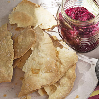 Lavash Crackers with Beet Dip