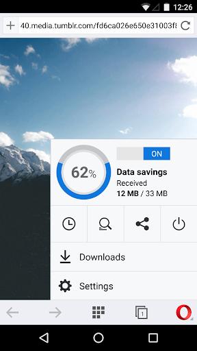 Android 適用的 Opera 瀏覽器 Beta 版