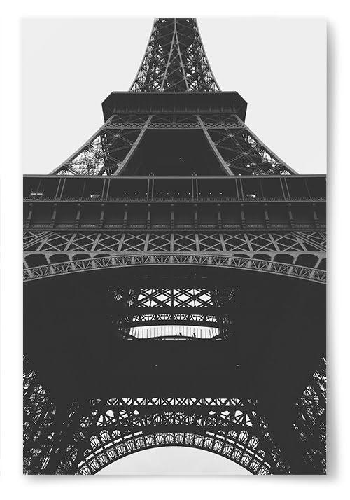 Poster Eiffeltornet Porträtt