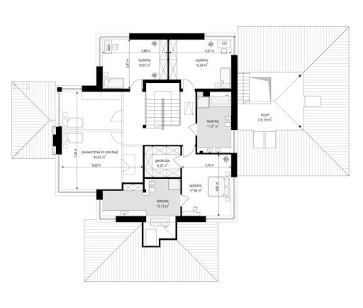 Dom z widokiem B - Rzut piętra