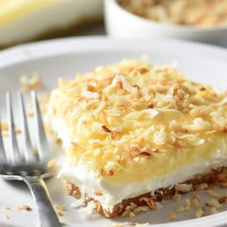 No-Bake Coconut Cream Lush Dessert.