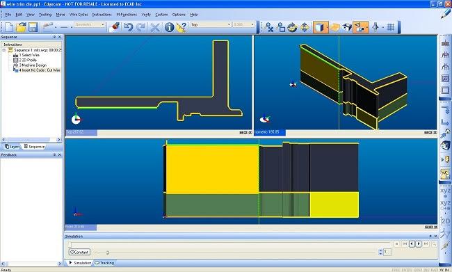 Специализированное решение EDGECAM Wire EDM для проволочной эрозии дает пользователю уверенность и гибкость при использовании в производстве 2- и 4-осевых деталей метода электроэрозионной резки проволокой.