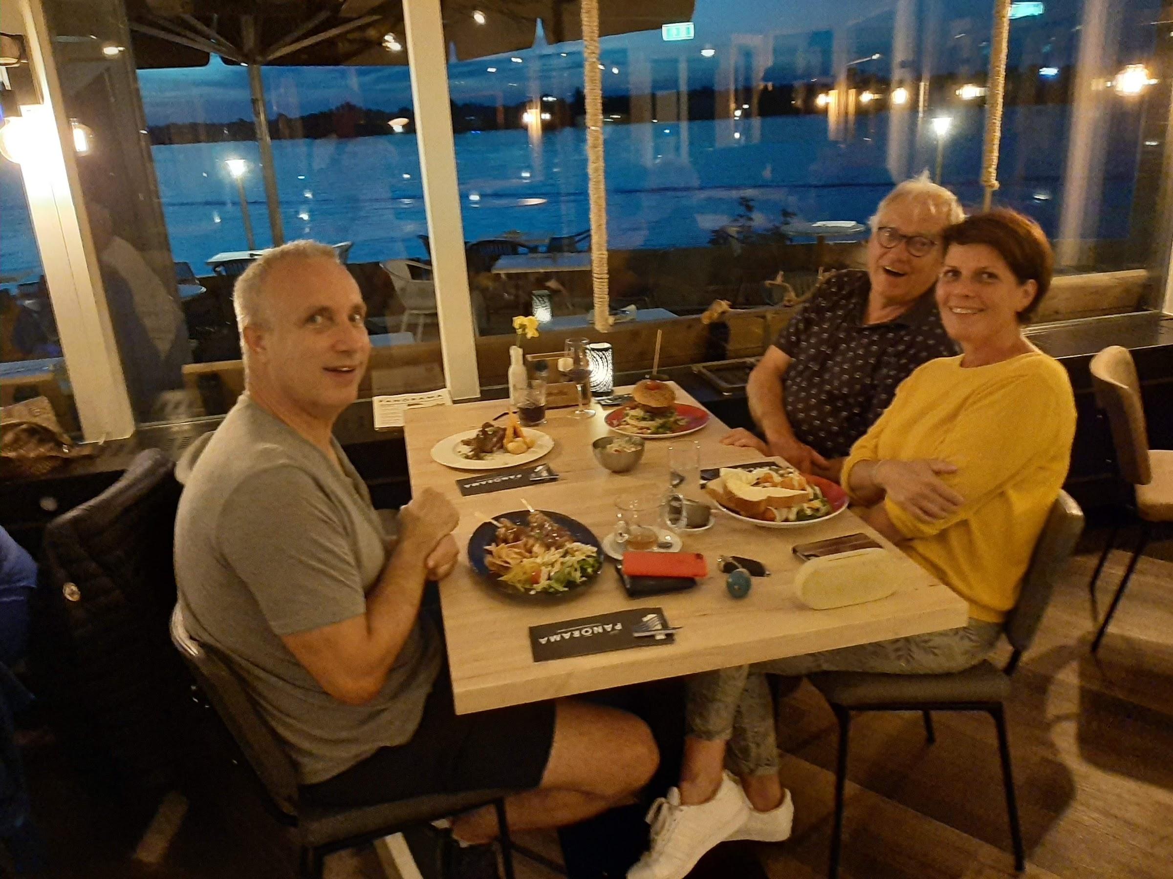 Eten met Zeger en Ineke.
