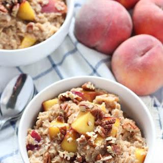 Peach Cobbler Oatmeal.