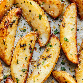 Baked Russet Potatoes Wedges Recipes