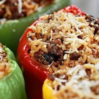 Ground beef stuffed peppers | iStock.com.