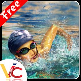 Плавание гонки 3D