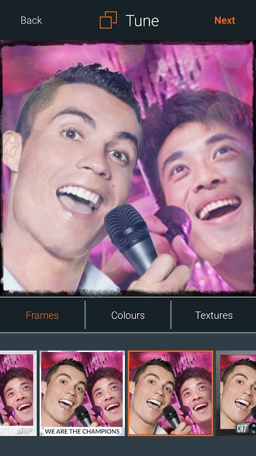 CR7Selfie- screenshot