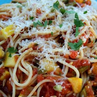 Garden Fresh Vegetable Spaghetti.
